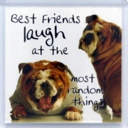 Best Friends laugh at the most random things Fridge Magnet