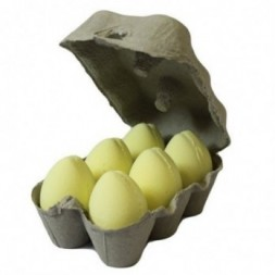 Box of 6 Bath Eggs - Banana - Yellow