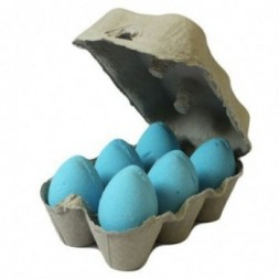 Box of 6 Bath Eggs - Blueberry - Blue
