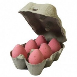 Box of 6 Bath Eggs - Cherry - Red