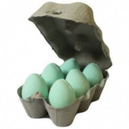 Box of 6 Bath Eggs - Mango- Green