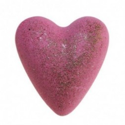 Holly Berry and Mistletoe Bath  Bomb Heart