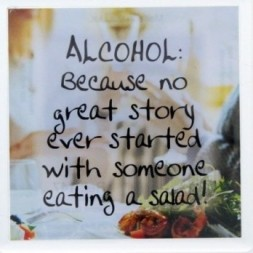 ALCOHOL: Because no great story ever started  Fridge Magnet