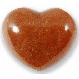 Peach Aventurine Heart Large