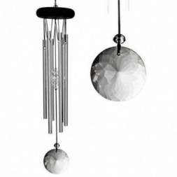 Crystal Meditation Wind Chime Silver