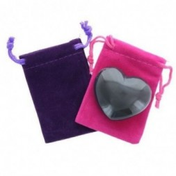 Agate Heart Large in Pouch