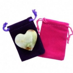 Onyx Heart Large in Pouch