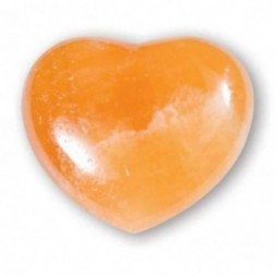 Orange Calcite Heart Large