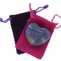 Dumortierite Heart Large in Pouch