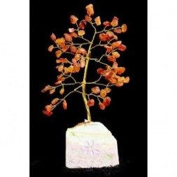 Carnelian Gemstone Tree - 80 stones