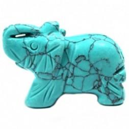 Gemstone Elephant -Turquoise