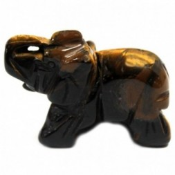 Gemstone Elephant -Tiger Eye