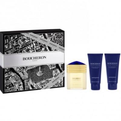 Boucheron Homme Eau De Perfume Spray 100ml Set 3 Pieces
