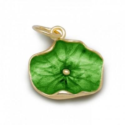 Blue & Green Lotus Leaf Classical Vogue Enamel Silver...