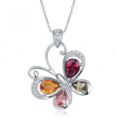 Butterfly Tourmaline & Silver Necklace