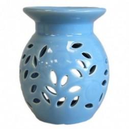 Floral Oil Burner - blue