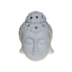 Buddha Head Oil Burner - White