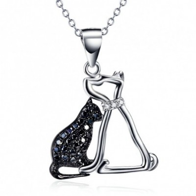 Cat & Dog Silver Necklace