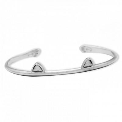 Cat Ears Silver Bracelet