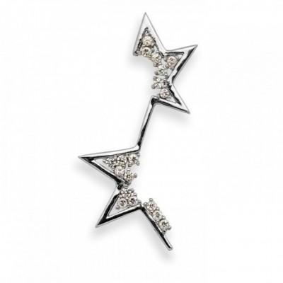 Asymmetry Star 18k Gold-plated Silver  Gemstone Pendant