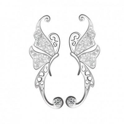 Butterfly Gemstone Silver Studs Earrings