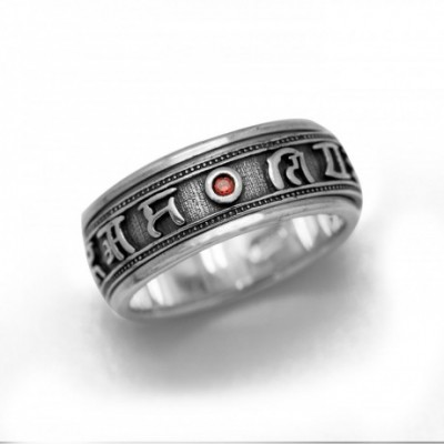 Buddhism Blessing Silver Good Luck Ring
