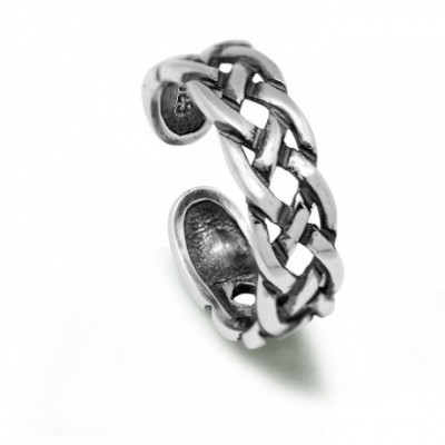 Air Mesh Adjustable Silver Ring