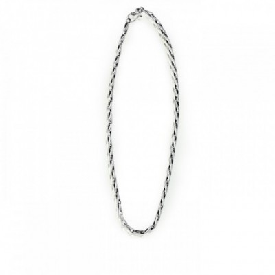 Barleycorn Bud Seed Silver Chain Necklace