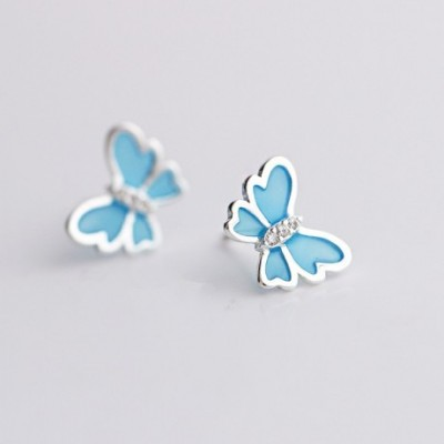 Butterfly Silver Studs Earrings
