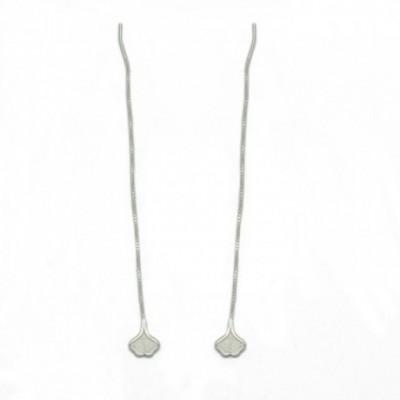 Apricot Silver Dangle Earrings