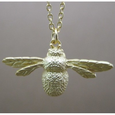 Bee Silver Necklace