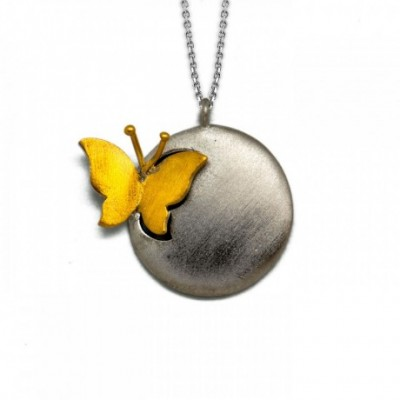 Butterfly Ball Silver Necklace