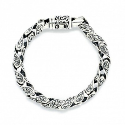 Domineering Hollow Silver Studs Bracelet