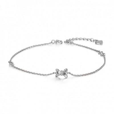Bow Tie Silver Bracelet