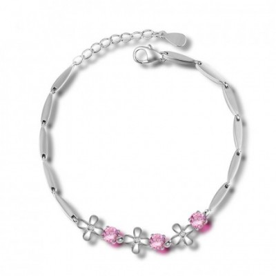 Box Flower Silver Bracelet