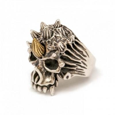 Unicorn Skeleton Silver Ring