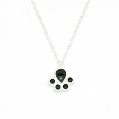 Bear Paw Silver Necklace