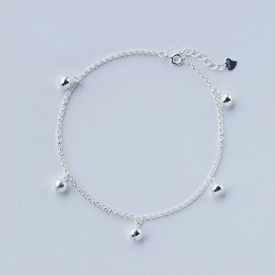 Jingle Bell Silver Foot Anklet