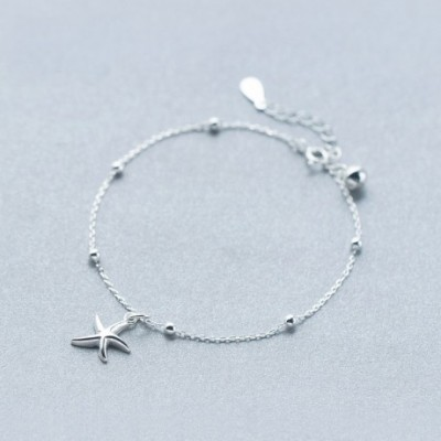 Starfish Silver Foot Anklet