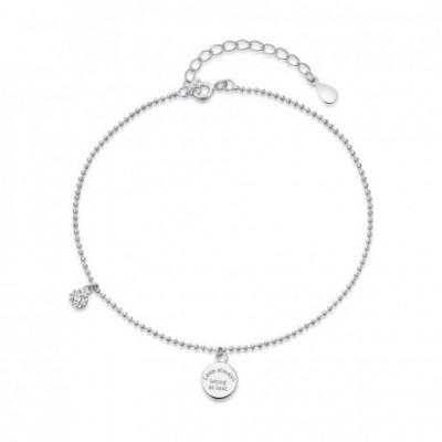 Love Always Being At Last Silver Bead White  Gemstone...