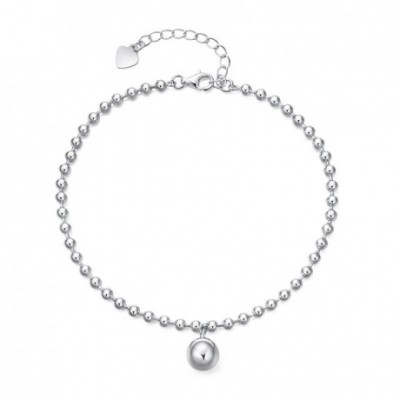 Silver Bead Ball Silver Foot Anklet