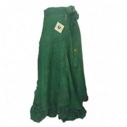 Green Full Length Silk Sari
