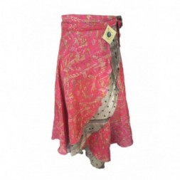 Pink Full Length Silk Sari