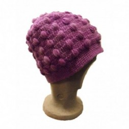 New Style Lilac Violet Bobbly Bobble Hat