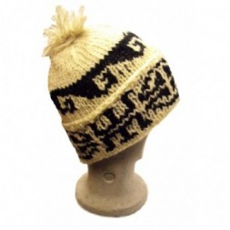 Traditional Unlined Hand-knitted Bobble  Hat