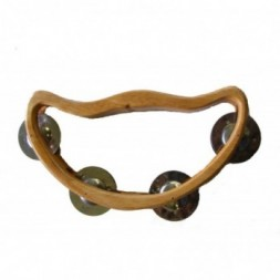 Wooden Half Moon Headless Tambourine