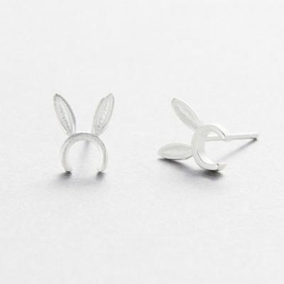 Bunny Ears Silver Earrings