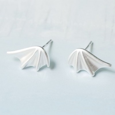Dragon Wings Silver Earrings