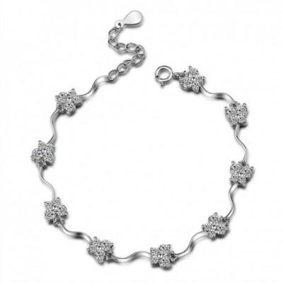 Butterfly Cubic Zirconia Silver Bracelet