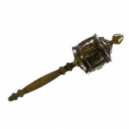 Brass and Copper Tibetan Prayer Wheel